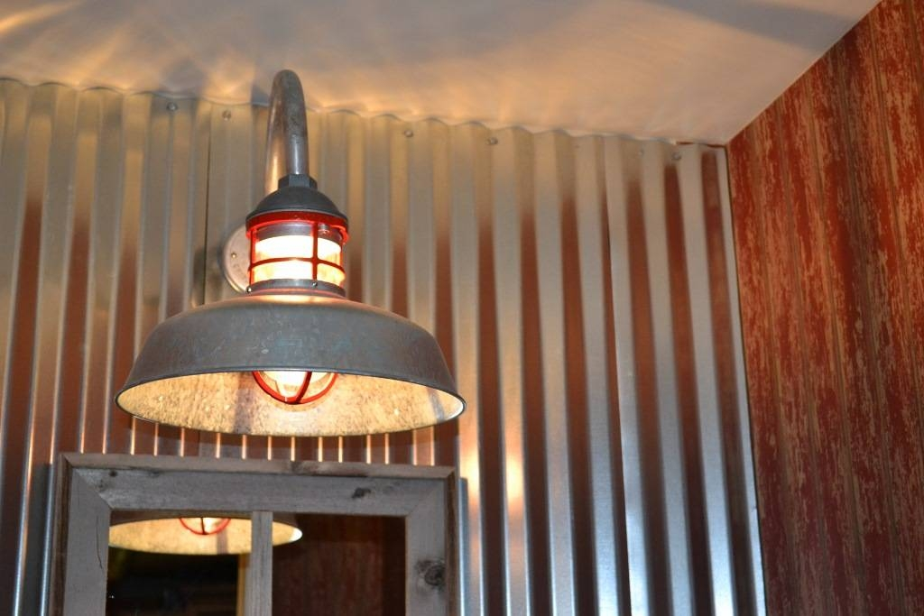 Inspiration about Galvanized Gooseneck Light Adds Fun Element To New Barn Home Regarding Galvanized Barn Lights (#10 of 15)