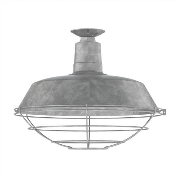 Galvanized Pendant Light – Sl Interior Design Pertaining To Galvanized Barn Lights (#7 of 15)