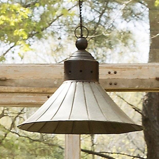 Galvanized Tin Pendant Light | Hanging Pendant Lights | Vintage With Tin Pendant Lights (#6 of 15)