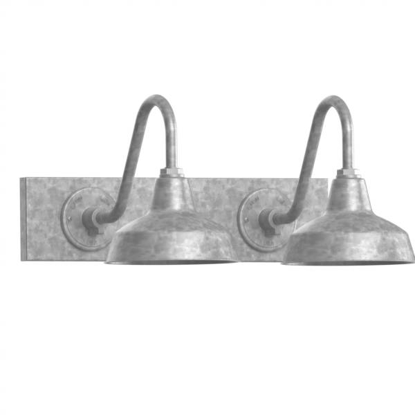 Inspiration about Galvanized Vanity Light – Jeffreypeak With Galvanized Barn Lights (#15 of 15)