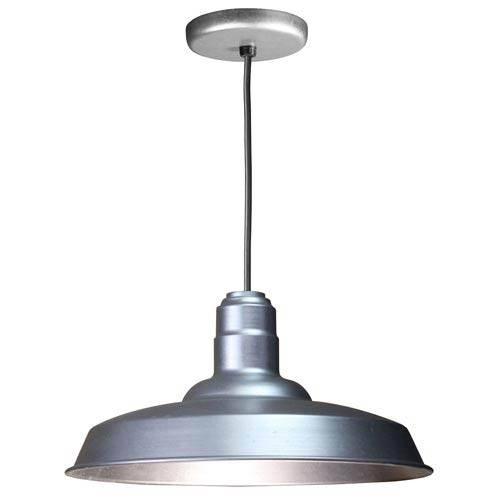 Galvanized Warehouse Pendant Light | Bellacor Regarding Warehouse Pendant Light Fixtures (View 14 of 15)