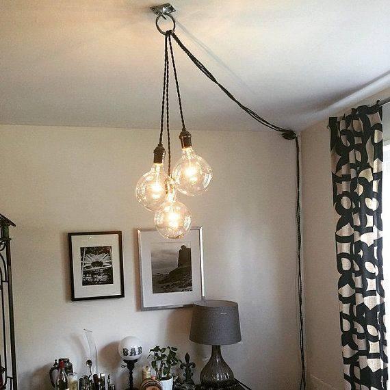 Popular Photo of Hanging Plugin Pendant Lights