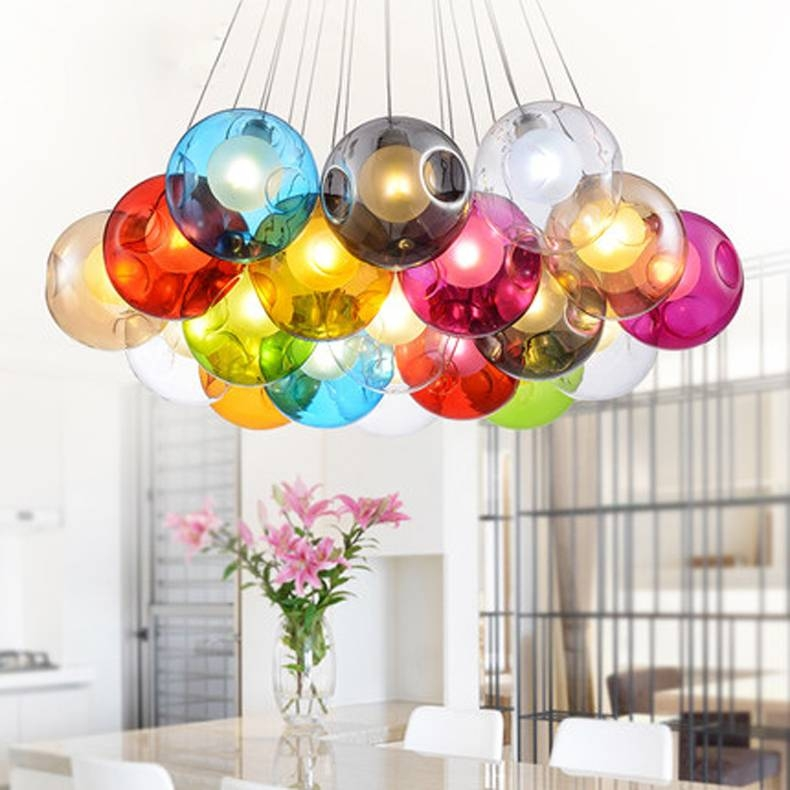 15 Photo Of Multi Coloured Pendant Lights