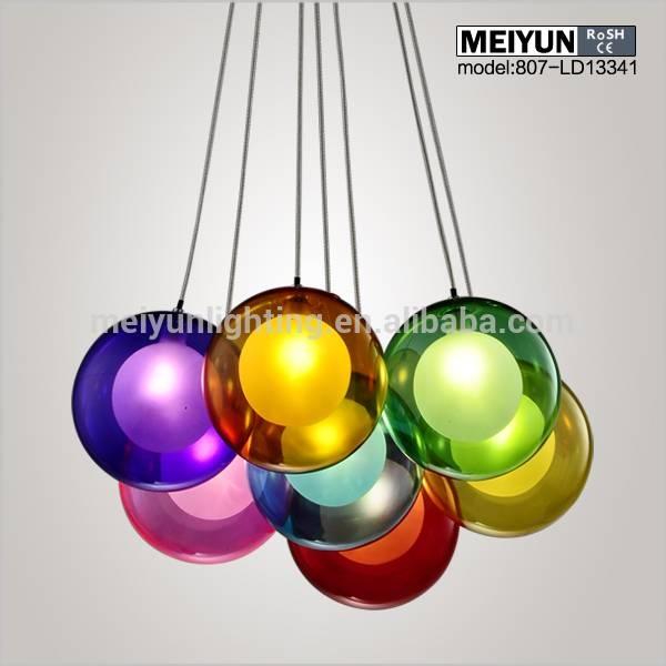 Inspiration about Glass Ball Pendant Light,glass Light – Buy Glass Ball Pendant Intended For Coloured Glass Lights (#2 of 15)