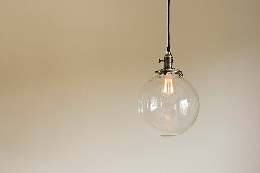 Inspiration about Glass Globe Pendant Light Fixture 10 Hand Blown Glass Within Glass Orb Lights (#13 of 15)