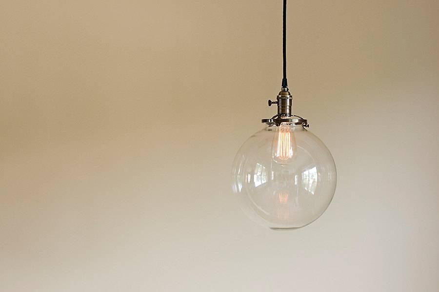 Glass Globe Pendant Light Fixture 10 Hand Blown Glass Within Glass Orb Lights (#10 of 15)