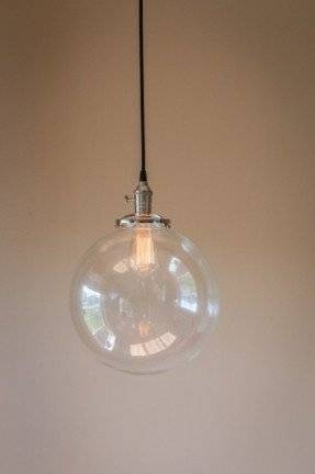 Inspiration about Glass Globe Pendant Light – Foter Within Clear Glass Ball Pendant Lights (#7 of 15)