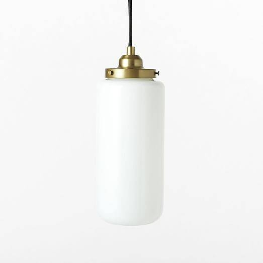 Glass Jar Pendant – Milk | West Elm Throughout Milk Glass Pendants (#8 of 15)