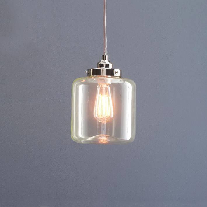 Inspiration about Glass Jar Pendant – Short | West Elm Inside West Elm Glass Pendants (#9 of 15)