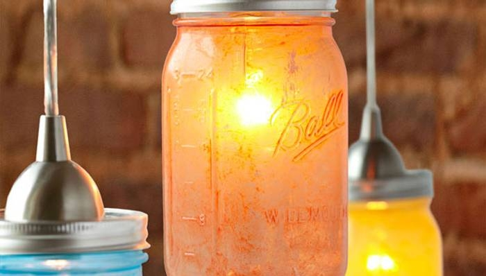 Glass Mason Jar Pendant Lights Regarding Lowes Portfolio Pendant Lights (#1 of 15)
