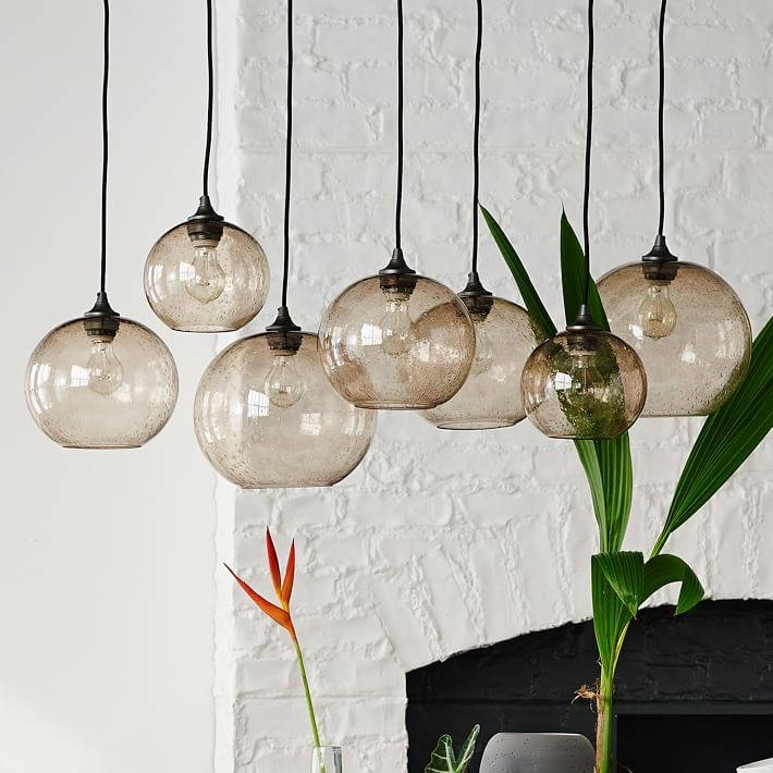Glass Orb Chandelier – Luster | West Elm Throughout Glass Orb Lights (#11 of 15)