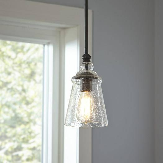 Glass Shade Mini Pendant Throughout Seeded Glass Mini Pendant Lights (#7 of 15)