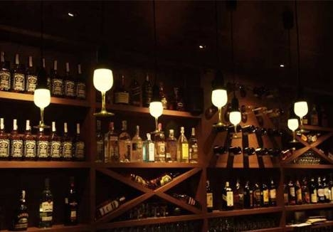 Glassbulb Lamps: Fun & Festive Wineglass Shaped Pendants Within Wine Glass Pendants (#9 of 15)