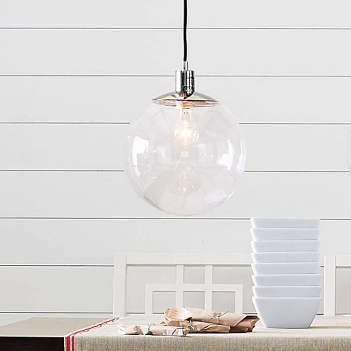 Globe Pendant – Clear | West Elm Inside Glass Globes For Pendant Lights (#12 of 15)