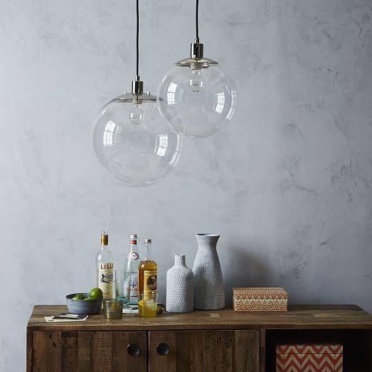 Globe Pendant – Clear | West Elm Inside Glass Globes For Pendant Lights (#11 of 15)