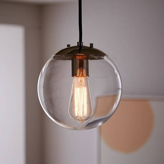 Globe Pendant – Clear | West Elm Intended For Glass Globes For Pendant Lights (#13 of 15)