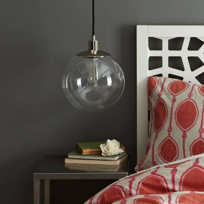Globe Pendant – Clear | West Elm Throughout Large Glass Ball Pendant Lights (#8 of 15)