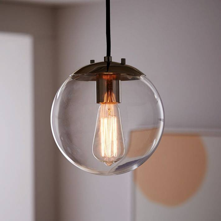 Globe Pendant – Clear | West Elm Within Small Glass Pendant Lights (#10 of 15)