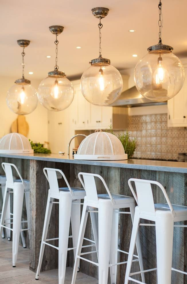 Inspiration about Globe Pendant Light Kitchen Beach With Breakfast Bar Coastal With Beach Pendant Lights (#6 of 15)