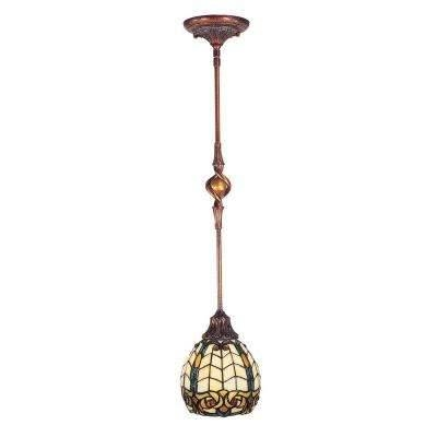 Gold – Dale Tiffany – Pendant Lights – Hanging Lights – The Home Depot For Dale Tiffany Pendant Lights (View 12 of 15)