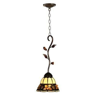 Gold – Dale Tiffany – Pendant Lights – Hanging Lights – The Home Depot Inside Dale Tiffany Pendant Lights (View 10 of 15)