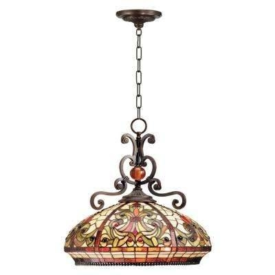 Gold – Dale Tiffany – Pendant Lights – Hanging Lights – The Home Depot Pertaining To Dale Tiffany Pendant Lights (#11 of 15)