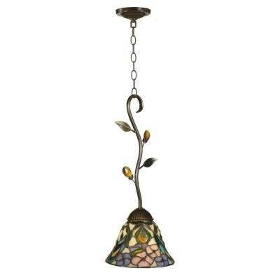 Gold – Dale Tiffany – Pendant Lights – Hanging Lights – The Home Depot Regarding Dale Tiffany Pendant Lights (View 7 of 15)