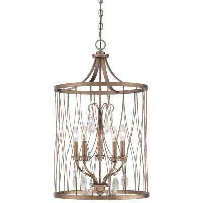 Gold – Minka Lavery – Pendant Lights – Hanging Lights – The Home Depot In Minka Lavery Pendant Lights (#5 of 15)