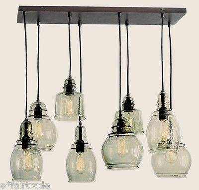 Gorgeous Glass Pendant Chandelier Paxton Glass 8 Light Pendant With Regard To Glass 8 Lights Pendants (#6 of 15)