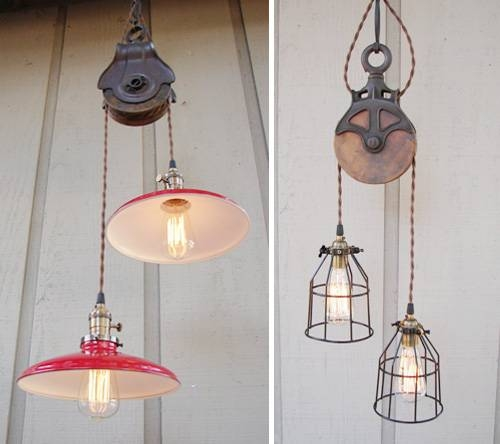 Inspiration about Gorgeous Pulley Pendant Light Pendant Lighting Ideas Top Pulley Intended For Pulley Lights Fixtures (#14 of 15)
