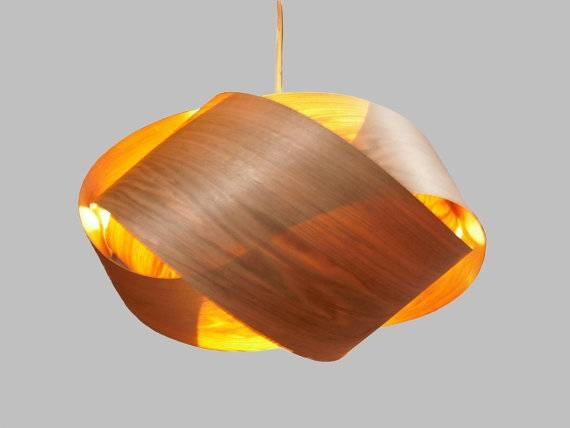 Granny Knot Wood Veneer Pendant Lamp Butternut Within Wood Veneer Pendant Lights (View 2 of 15)
