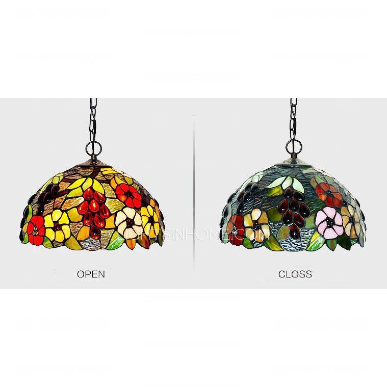 Inspiration about Grape Pattern Stained Glass Shade Large Kitchen Pendant Lights Regarding Stained Glass Pendant Lights Patterns (#11 of 15)