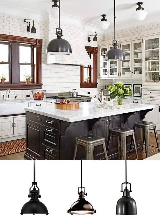 Great Industrial Pendant Lighting For Kitchen Industrial Hanging Intended For Industrial Kitchen Lighting Pendants (#6 of 15)