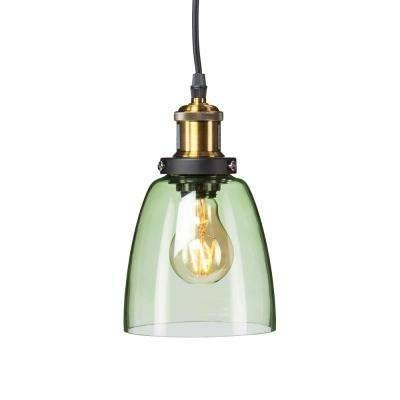 Green – Pendant Lights – Hanging Lights – The Home Depot In Green Glass Pendant Lighting (#4 of 15)