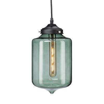 Green – Pendant Lights – Hanging Lights – The Home Depot Regarding Green Glass Pendant Lighting (#5 of 15)