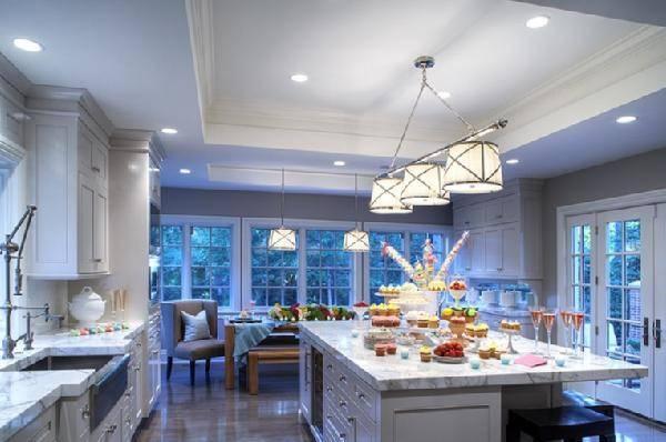 Grosvenor Triple Pendant Light – Transitional – Kitchen Inside Grosvenor Pendant Lights (#11 of 15)