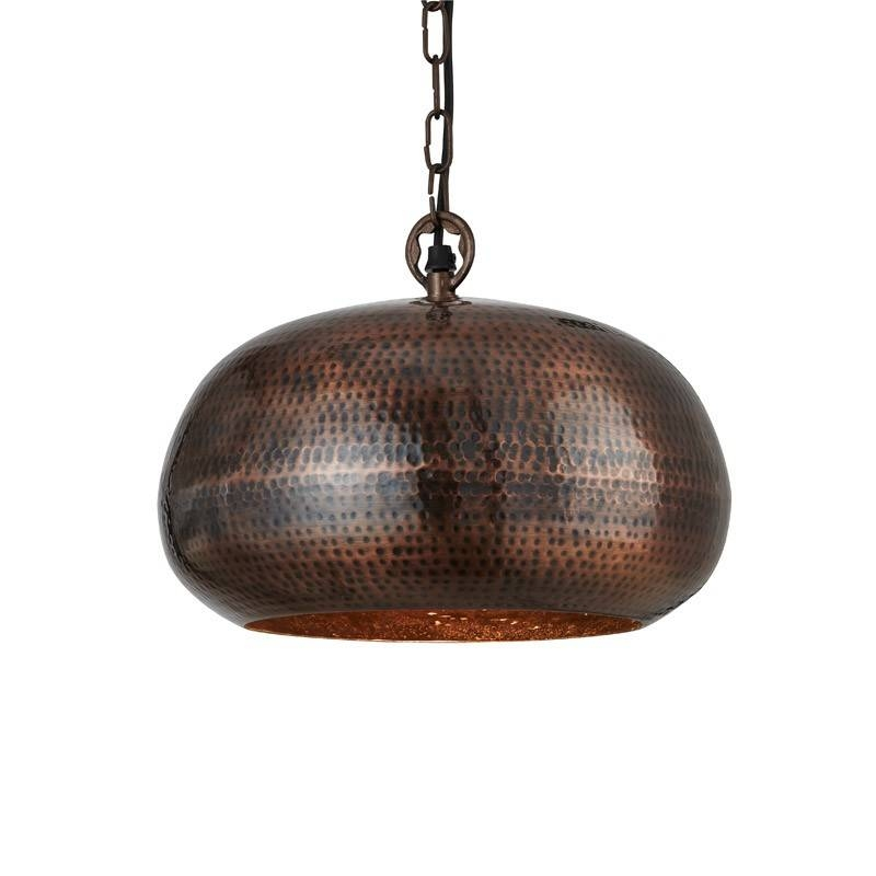 Hammered Metal Pendant – Bowl – Antique Bronze – Lighting Direct Throughout Hammered Pendant Lights (View 10 of 15)
