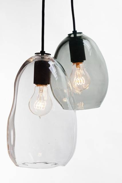 Hand Blown Bubble Glass Pendant Light Inside Hand Blown Glass Pendant Lights (#5 of 15)