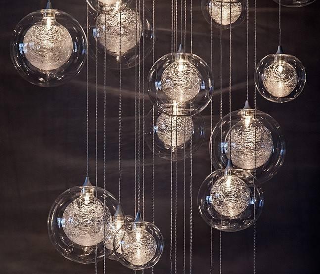 Hand Blown Glass Lighting | Foyer Lighting & Staircase Chandelier Intended For Blown Glass Pendant Lights (#5 of 15)