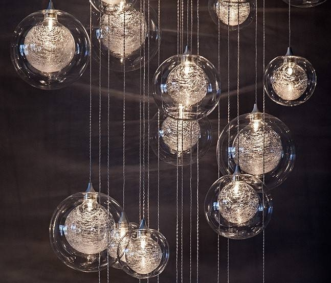 Hand Blown Glass Lighting | Foyer Lighting & Staircase Chandelier Pertaining To Blown Glass Pendant Lights Fixtures (#9 of 15)