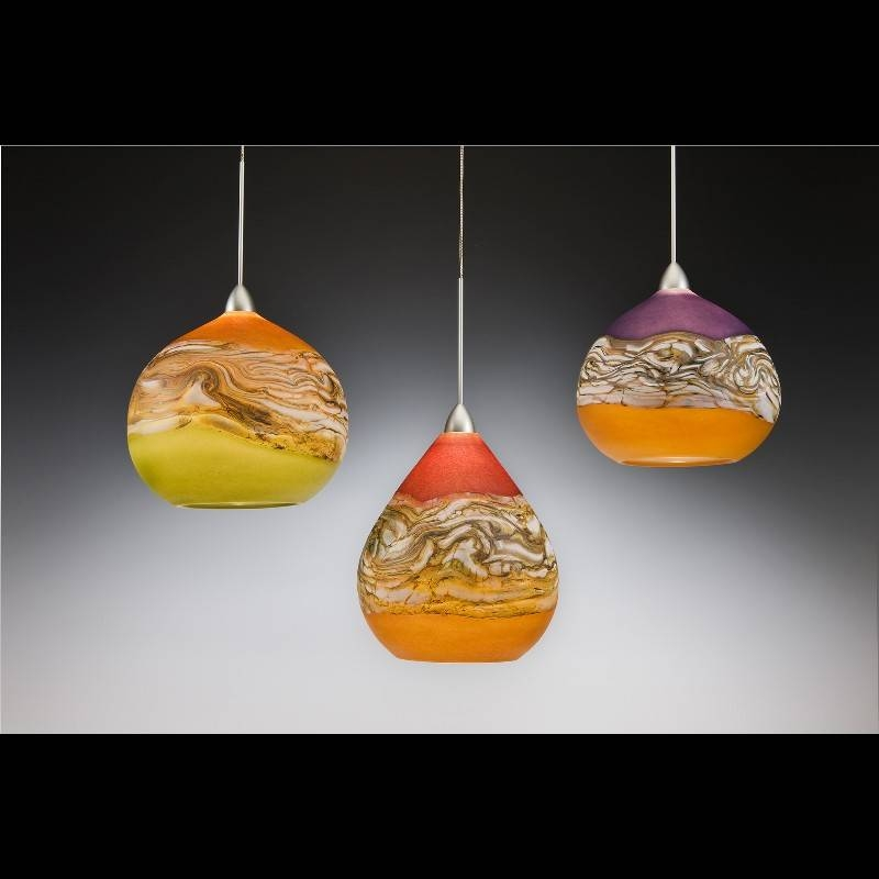 Hand Blown Glass Lighting Pendant Sale 2017 For Blown Glass Pendant Lights (#4 of 15)