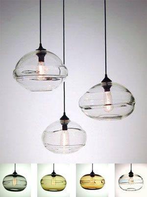 Hand Blown Glass Pendant Light Shades | Roselawnlutheran Pertaining To Hand Blown Glass Mini Pendant Lights (View 3 of 15)