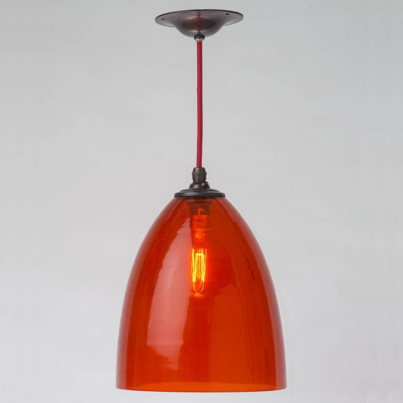Hand Blown Glass Pendant Light Shades | Roselawnlutheran Regarding Coloured Glass Pendant Light (#11 of 15)