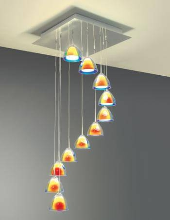 Hand Blown Glass Pendants | Residential Lighting Intended For Hand Blown Glass Pendant Lights (#8 of 15)