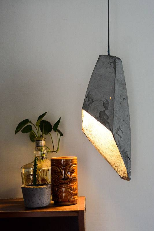 Hanging Concrete Lamp: 3 Steps (With Pictures) With Diy Concrete Pendant Lights (#8 of 15)
