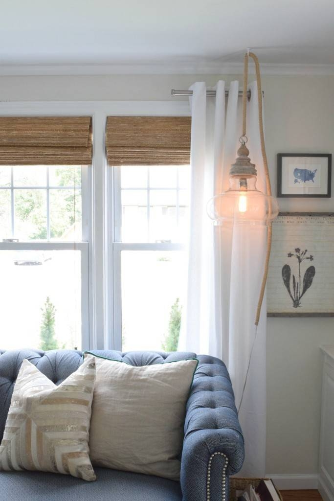 Hanging Pendant Light Diy – Nesting With Grace Throughout Plug In Hanging Pendant Lights (#9 of 15)