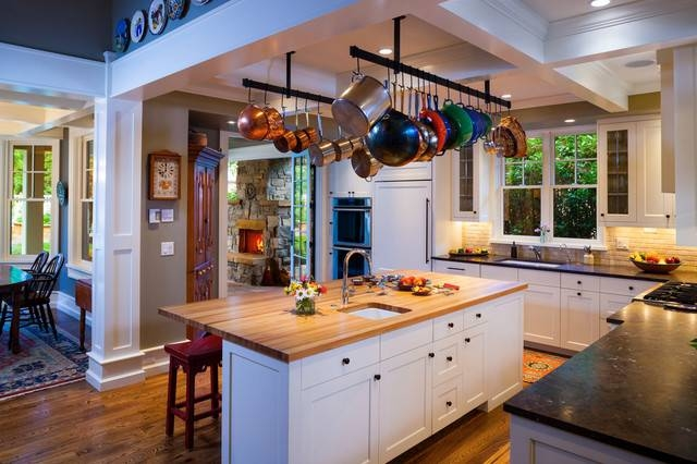 Hanging Pot Rack Chain | Houzz With Regard To Kitchen Pendant Lights With Pot Rack (#9 of 15)