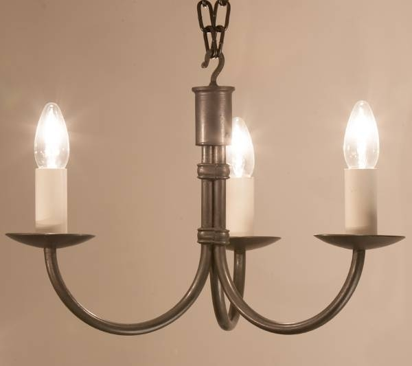 Hartcliff Tiny 3 Light Wrought Iron Pendant Light | Hartcliff With Regard To Wrought Iron Lights Fittings (#7 of 15)