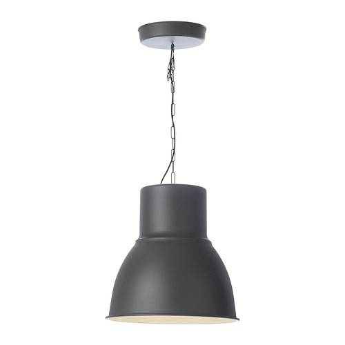 "Hektar Pendant Lamp – Dark Gray, 19 "" – Ikea Intended For Ikea Hanging Lights (#9 of 15)"