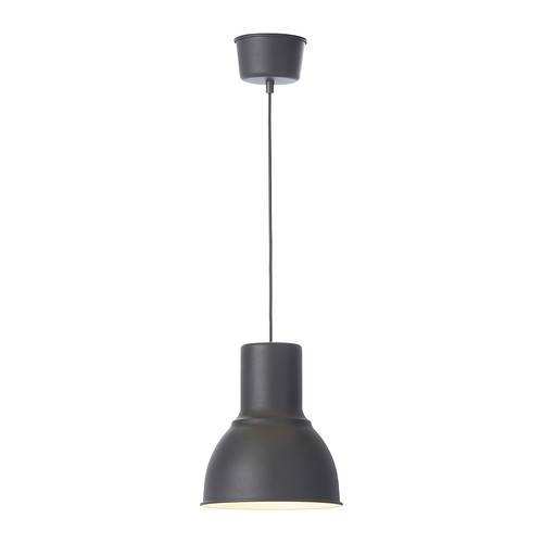 "Hektar Pendant Lamp – Dark Gray, 19 "" – Ikea Within Ikea Pendant Lighting (#8 of 15)"